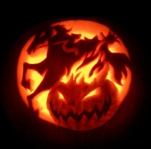 Headless horseman pumpkin lantern by Sammy Dee Manchester Meanders